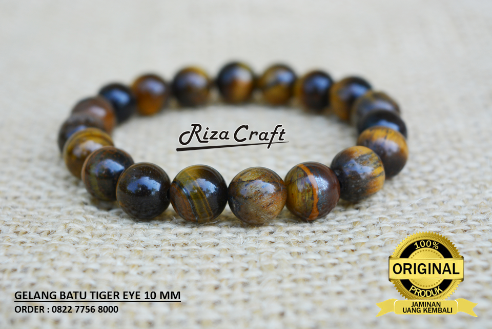 Gelang Batu Tiger Eye Asli