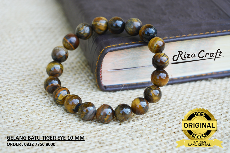 Gelang Batu Tiger Eye Kalimantan