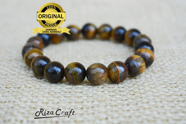 Gelang Batu Akik Tiger Eye