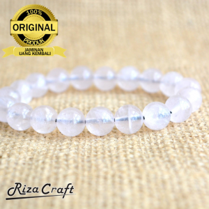 Gelang Batu Rose Quartz