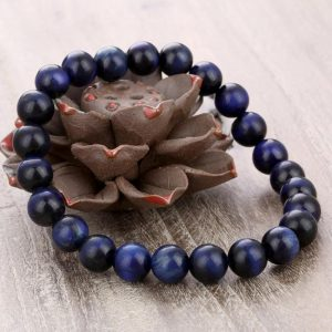Gelang Batu Tiger Eye Biru