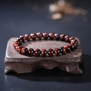 gelang Batu Tiger Eye Merah