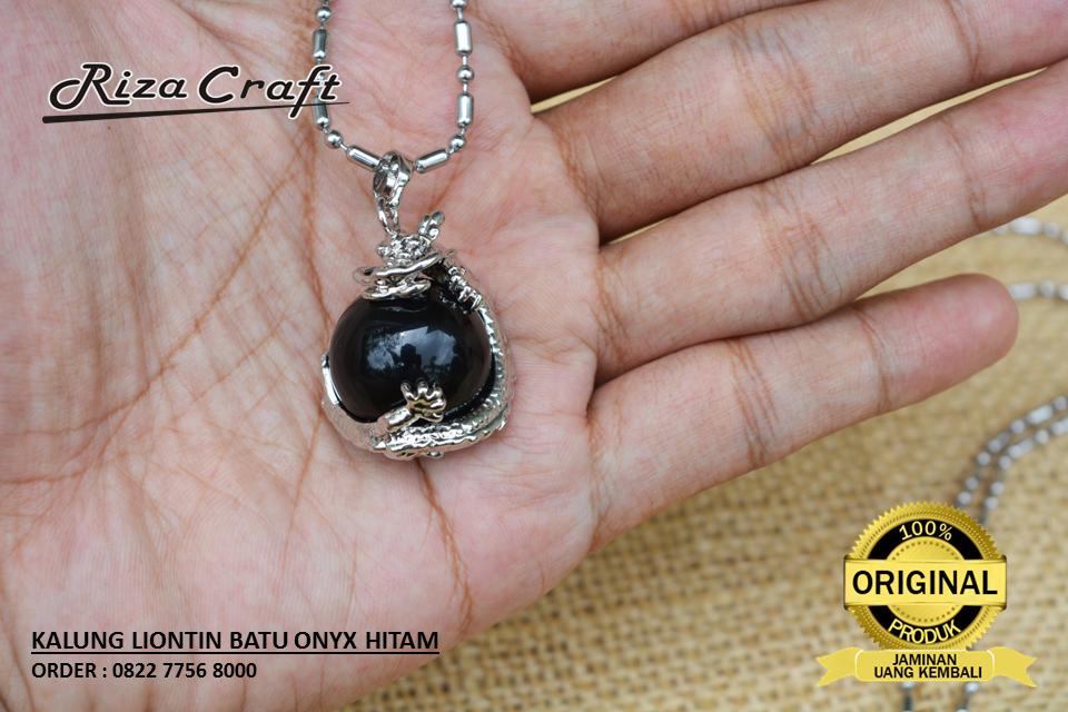 Kalung Batu Black Onyx
